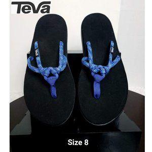 NWOT Teva Women Sandals Blue O Ring Flip Flop